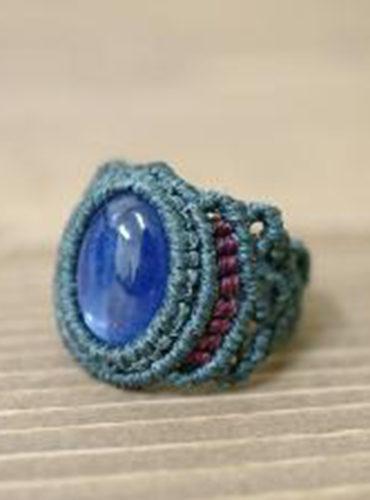 指輪 マクラメリング