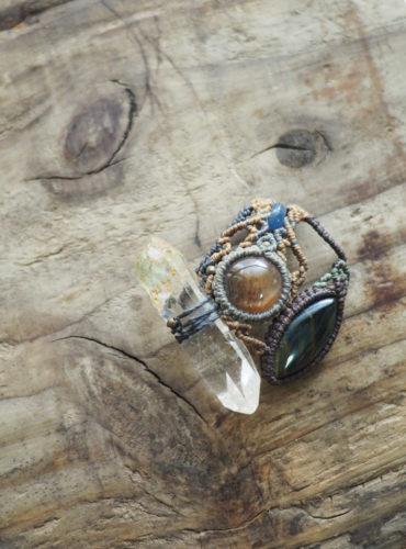 連結ペンダント水晶
